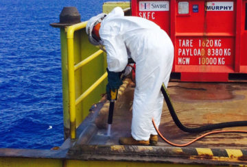 6) Helideck Blasting Murphy Oil